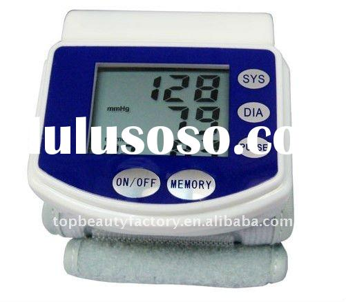 Digital LCD Wrist Blood Pressure monitor Fully Automatic Blood Pressure Heart Beat Meter Tester