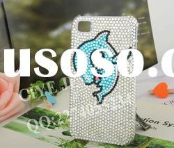Dolphin design crystal rhinestone lg cell phone cases