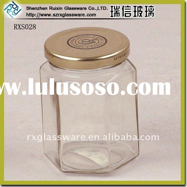 Exquisite Seal Square Glass Storage Jar With Clip Lid