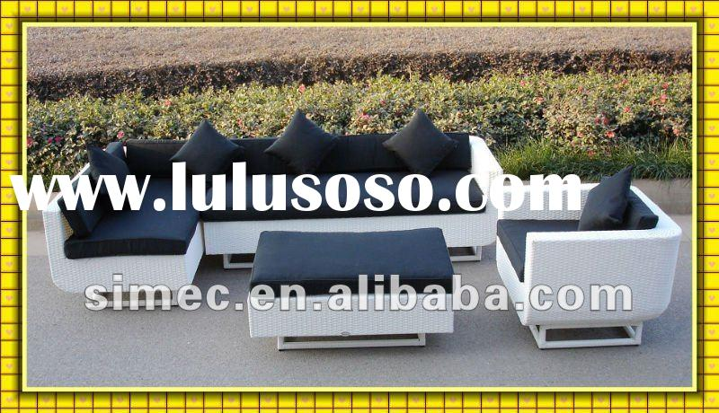 Factory sale modern design cheap price high quality poly rattan furniture outdoor sofa patio furnitu