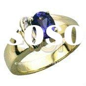 Factory wholesale artisan crafted fashion silver hand setting pure clear CZ 925 silver sterling ring
