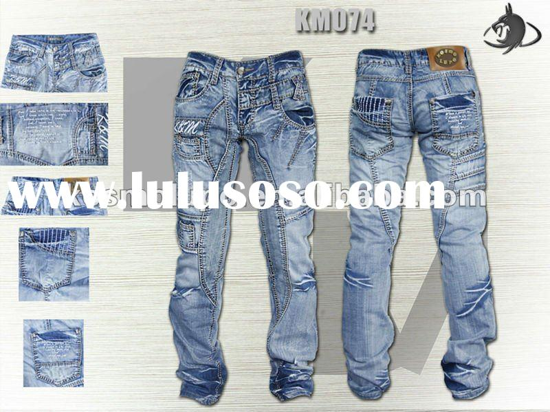 Fashion Jeans /Fashion Brand/100% Cotton /High Quality KM074