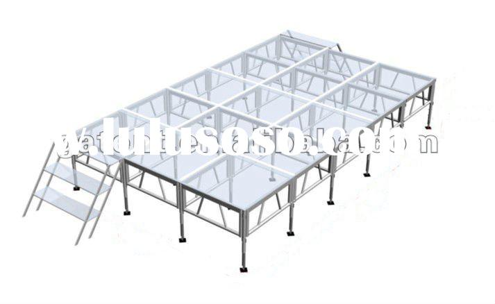 Glass Movable/portable Stage system, moving Stage