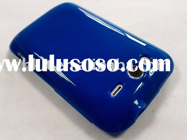 High Gloss UV style silicone TPU Skin Soft Gel case WildFire S A510e for HTC