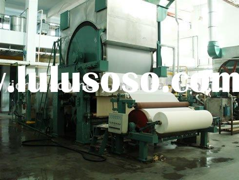 High speed toilet paper machine (waste paper recycling)