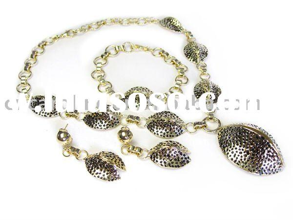 Hot sell Fashion Design gold plated jewelry set