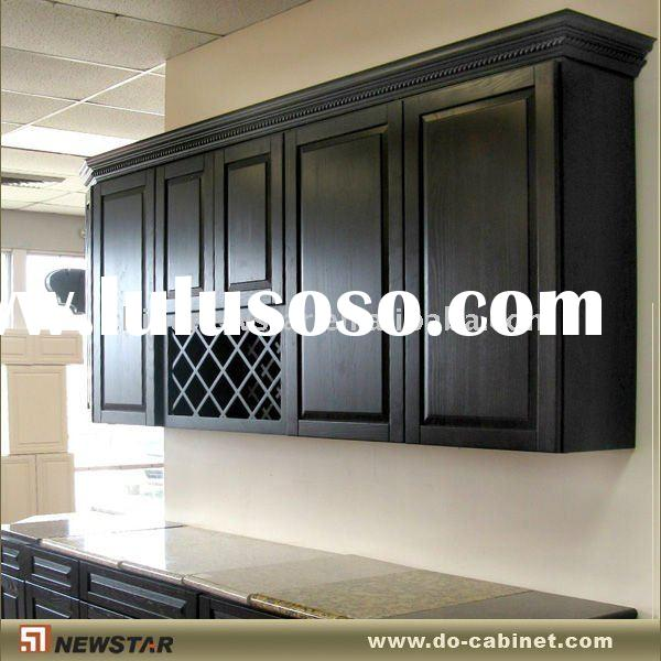 Kitchen wall cabinet with wine rack