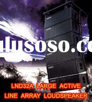"Large Active Line Array Speaker (2x12"") Powered by Digital Amplifiers - C-Mark LND32A"