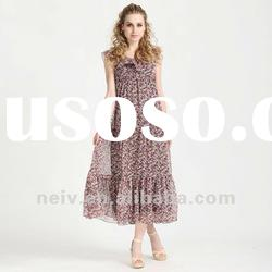 Long floral dress,Korean style,small calico dress,hot sale,S01049