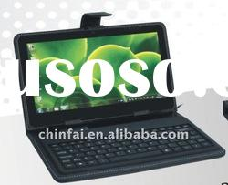 Mini wire USB keyboard with leather case for tablet PC