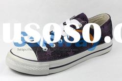 New Low Top Canvas Sneakers Women Shoes All Sizes Stars on Multi Background