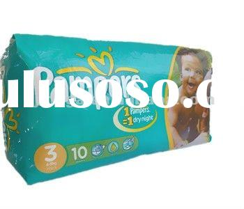 OEM/ODM 2012 cheapest baby diaper nappy with magic tape and elastic waist