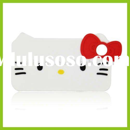 Persponalised Cute Hello Kitty Cheap Silicone Mobile Phone Protective Cases DH-PC02