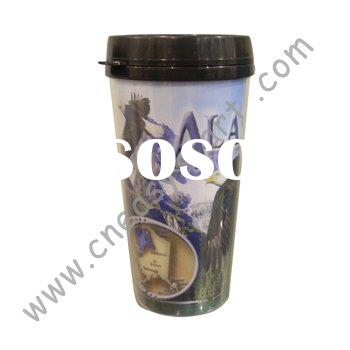 Plastic paper insert double wall cup