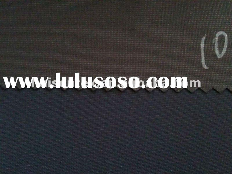 Polyester Viscose Spandex Shiny and Twill Suiting Fabric
