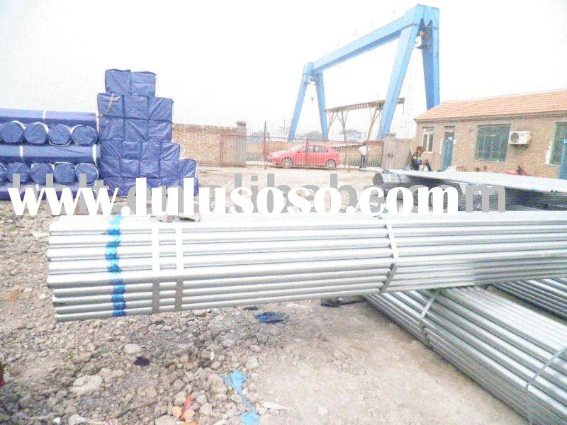 Pre-galvanized steel pipes/tubes ASTM A53/A36/BS1387/