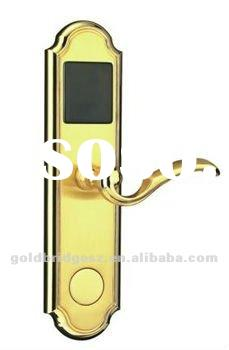 RFID Smart Card Hotel Door Lock with golden grinding