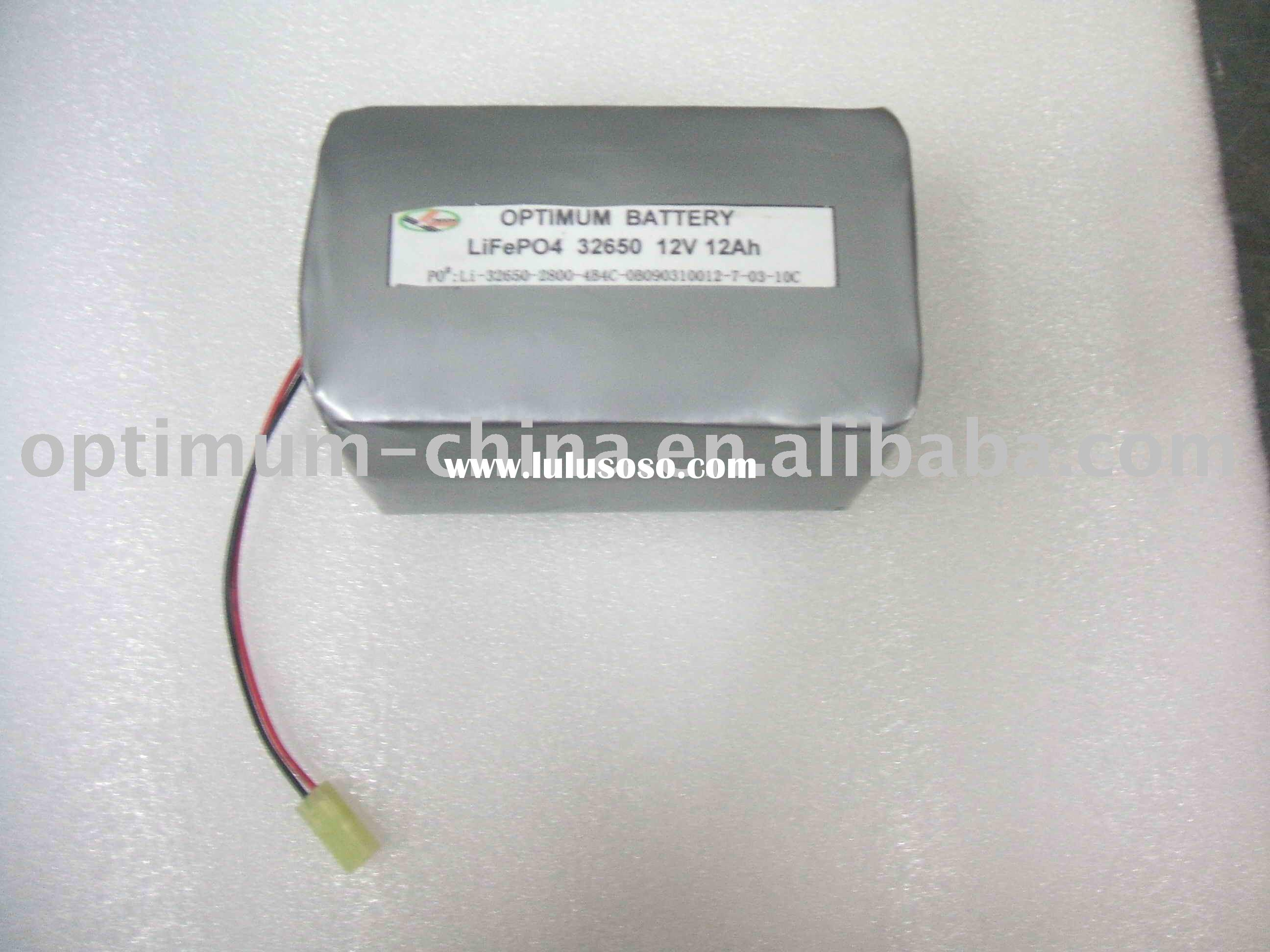 Rechargeable Lithium battery pack 12V 12Ah