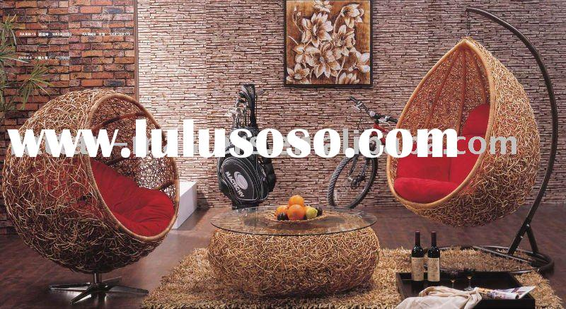 Very popular modern design natural rattan chaise lounge/hanging chair