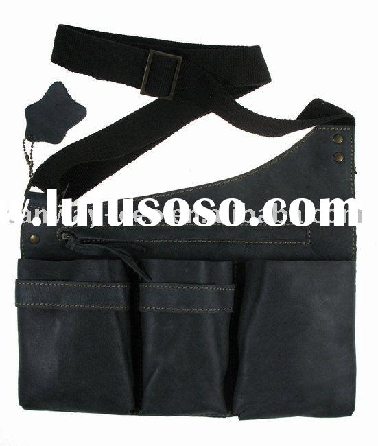 black real leather bag
