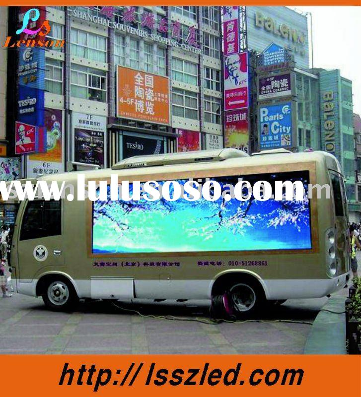bus led display screen outdoor full color P10