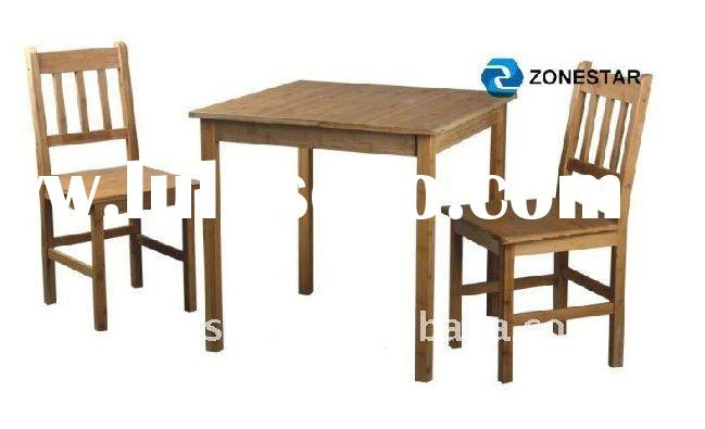 classic bamboo furniture dining set square table and chairs