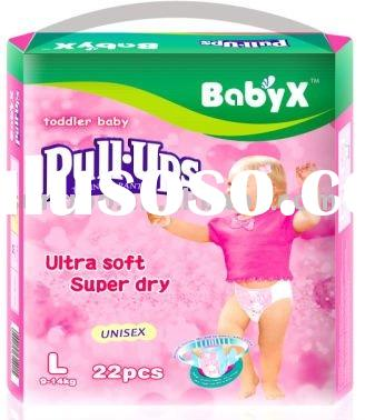 colorful high quality BabyX pull-ups(red package,large size)