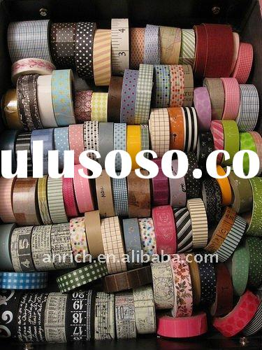 colorful printing washi tape, rice paper tape,washi tape,printed washi tape,TOP quality washi tape