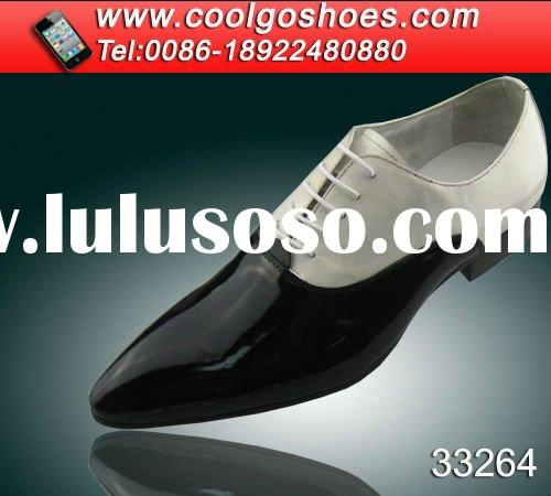 double color beautiful Italy design men dress pointed shoes