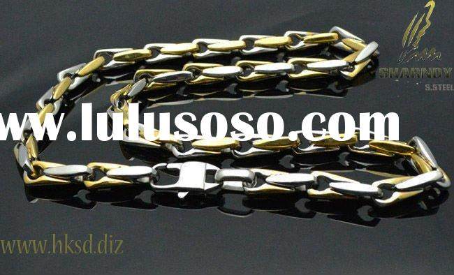 fashion 18K gold plating mens gold chain necklace