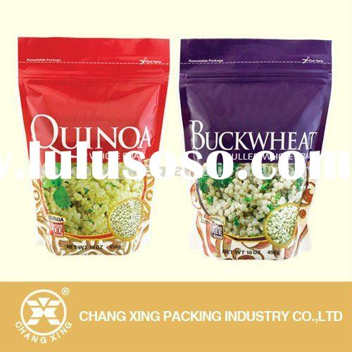 food grade stand up zipper pouch, resealble plastic zipper lock bags for fast food packaging
