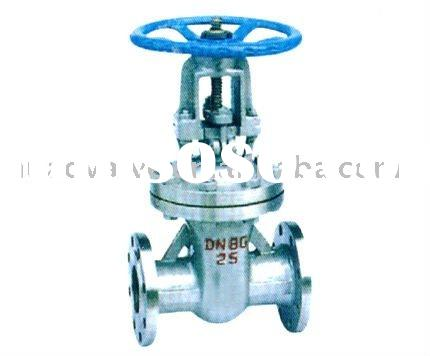 gear box double flanged soft-sealed forged steel or WCB ANSI Class 150 cuniform gate valve