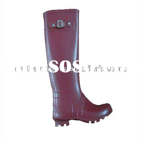 ladies high heel rubber boot