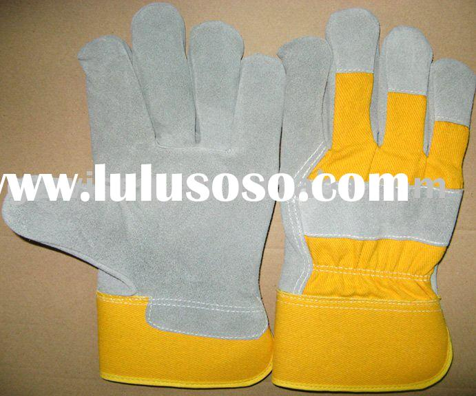 natural cow leather work glove