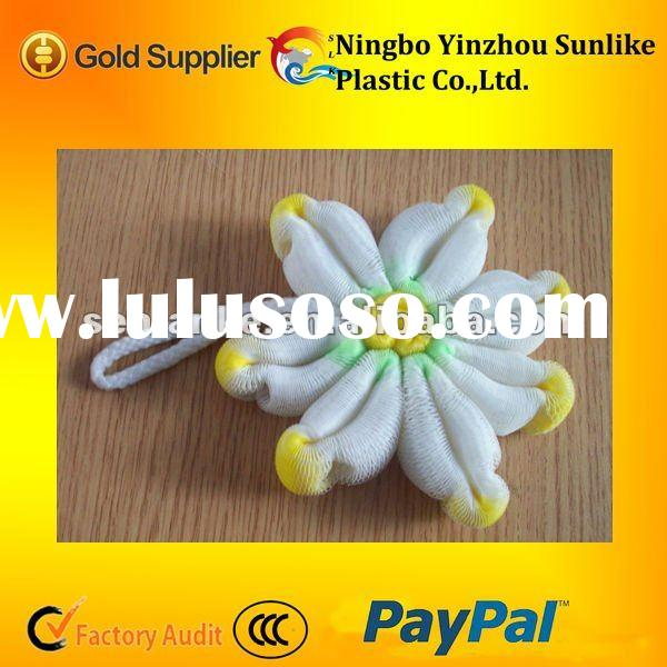 sunflower type bath sponge