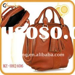 2011 hot selling stylish tote real leather handbags