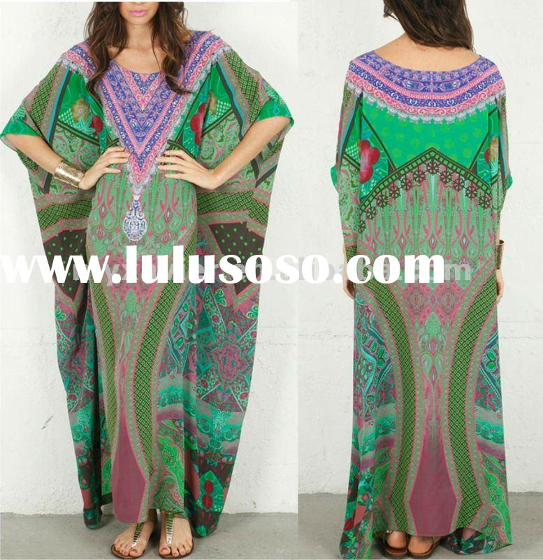 2012 fashion garments, Dubai abaya Kaftan dress (20240)