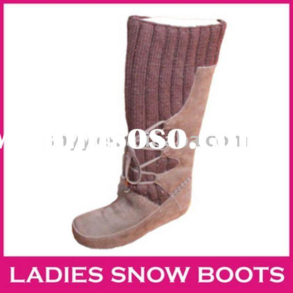 2012 tall snow boot high quality knitted winter boots mukluks