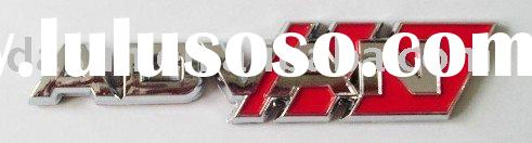 ABS plastic car auto badge emblem sticker license plate with chrome/ electroplated( plastic chrome e