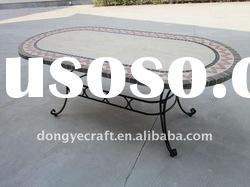 Antique Outdoor Oval Marble Top Dining Table YT080909