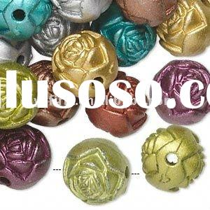 Big Discount!! Wholesale loose fashion rose acrylic beads!! Assorted colors!!