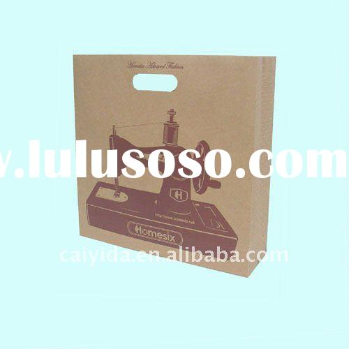 Brown paper bag for packing with customized design(CFS,BSCI)