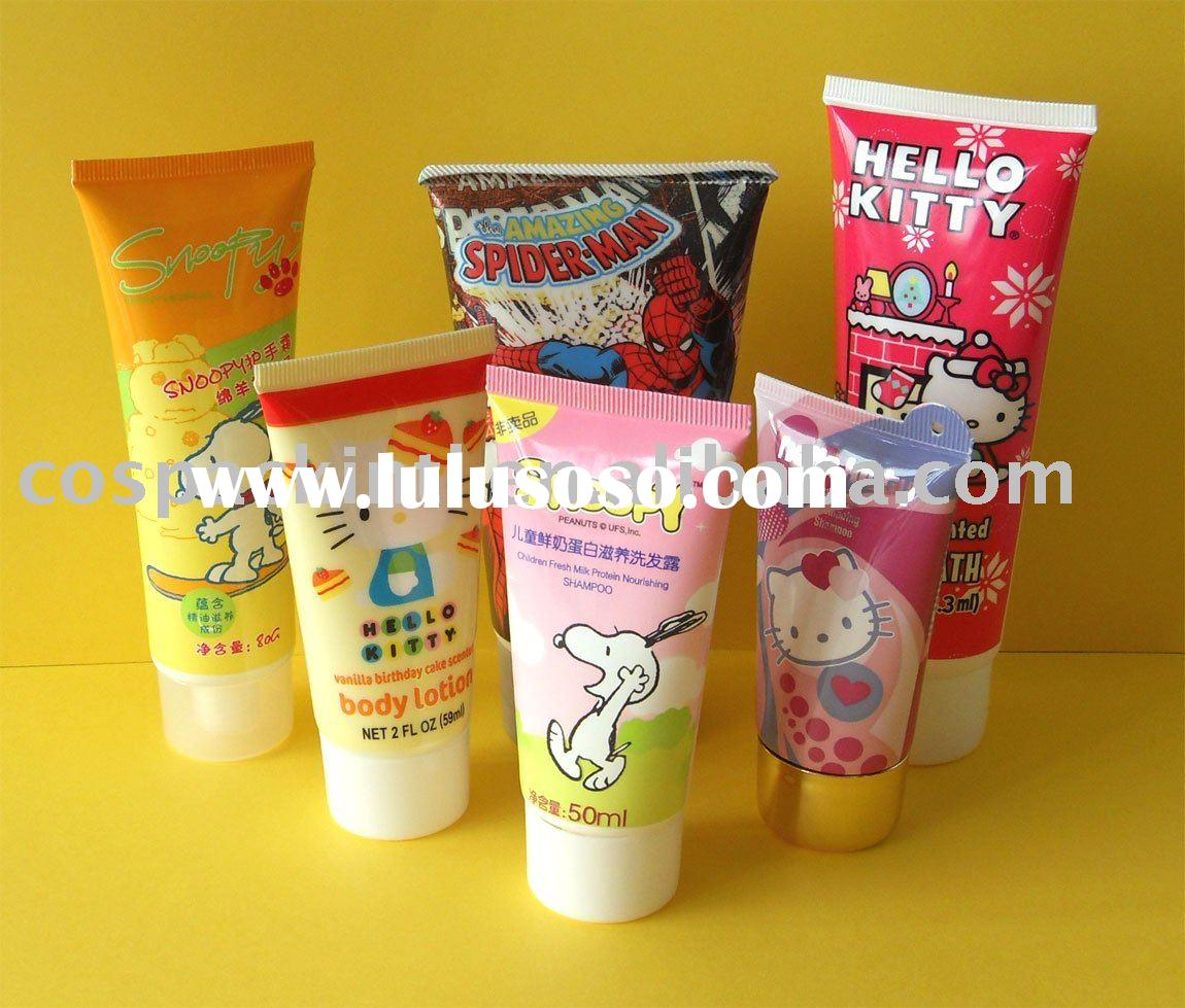 Cartoon Printing Gloss Varnish Plastic Cosmetic Tubes