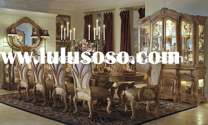 Classical Royal VIENNA Wooden Dining Room Set for 10 (A8019)