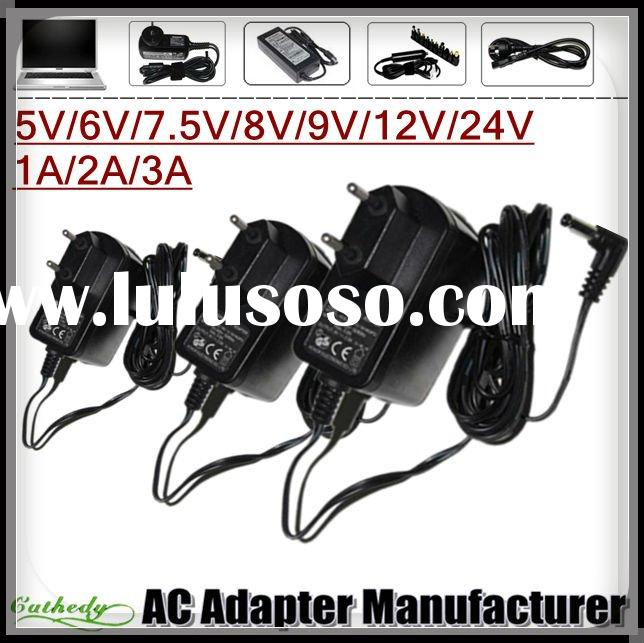 EU Plug 5V/6V/7V/8V/9V/12V 1A 2A 3A High quality DC power supply charger