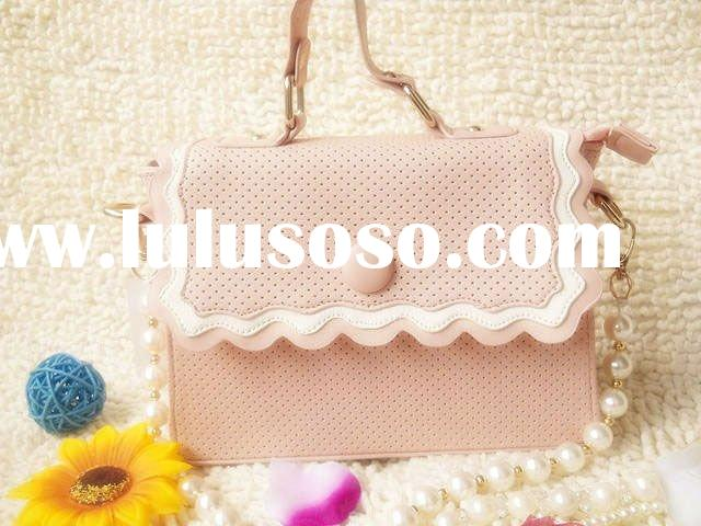 Fashion simple wavy girls message bags