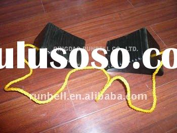 High Quality Rubber Aircraft Wheel Chocks for Heavy Duty Truck Tyre