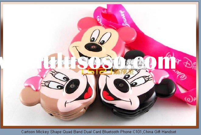 Mickey&mini c101 cartoon kids mobile phone cellphone with bluetooth