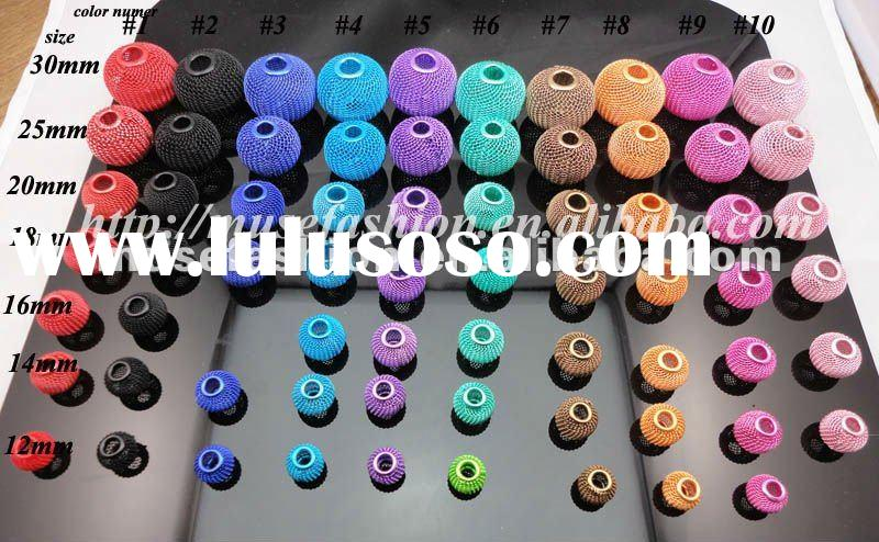 Mix colors and size wholesale colorful loose metal mesh ball for earrings,basketball wives mesh ball