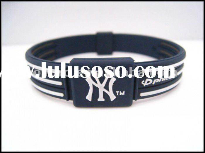 New York Yankees Power Energy Baseball Silicone Bracelets